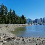 Début du parc avec vue sur Vancouver