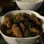 Spicy Chinese chicken.