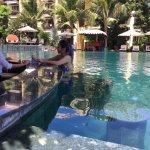 Infinity pool and pool bar