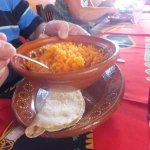 Saffron flavored rice