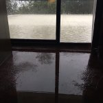 The flooding in our suite in room 306