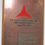 Plaque to the International Brigades' fallen in the Museum