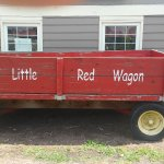 Red Wagon in front