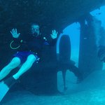 The propeller of the Kittiwake with Bobby and Nick