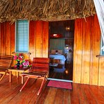 View inside an Overwater Cabana