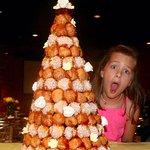 My granddaughter was blown away by the croque en bouche.
