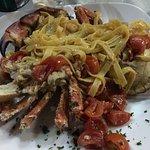 Tagliatelles au crabe entier pêché dans le vivier sous nos yeux un pur délice
