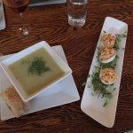 Leek/Potato Soup and Pistachio Dukka