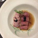 truffle oil sashimi appetizer