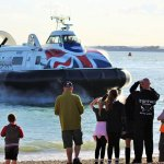 A specoal visit from Hovertravel