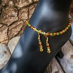 """""""Ember, Amber & Green in between"""" - Goodluck Anklets by Shirlyn Rafini"""
