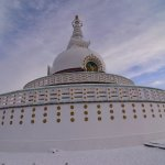 Stupa covered with Snow