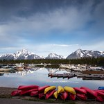 The Colter Bay Marina offers canoe, kayak, and motorboat rentals along with narrated lake cruise