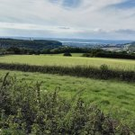View from Cotswold Edge to the Severn Estuary and Wales