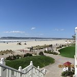 The LONG Sandy Beach on the Back side of Coronado Hotel was so wonderful to see and walk on.