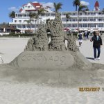Back View of the Coronado Hotel with some Incredible Sand Sculptures.