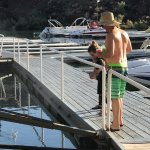 Feeding the fish off the dock- dock in great shape!
