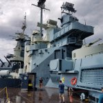 Deck of the Battleship North Carolina