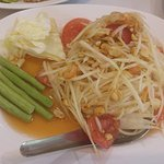 Papaya salad. Good and spicy