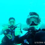 Underwater GoPro selfie on our dive with Alaina!