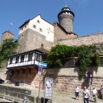 Half timbered buildings and tower