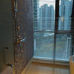 Such a beautiful bathroom with a tub & shower