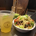 Burrito bowl, guacamole & fresh chips and an awesome margarita! Ummm 😋Chipotle! Always great! O