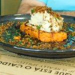 Codfish with sweet potato