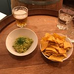 Chips and guac - a bit of kick and well-flavored!
