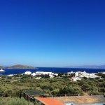 Veiw of the bay from the Teverna balcony.