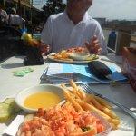Hot lobster rolls w/ fries