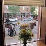 Out the front window -- carriage rides