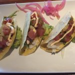 Ahi tuna taco appetizer - enough for an entree!