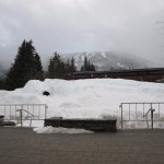 Snow pile in the village