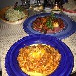 tagliatelle bolognese, cod fish and the famous lemon pesto