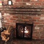 The Sea Lion room's fireplace