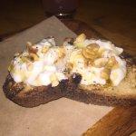 Antipasti: burrata bruschetta, hazelnut & honey
