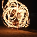 Fire dance at the Sea Food Restaurant