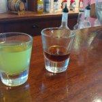 MaiTai mix (left) and dark rum (right).