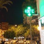 Evening temperature in town