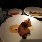duck confit and pan fried fish