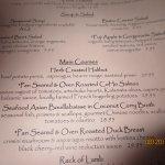 menu excerpt