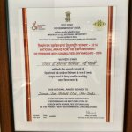 "National Award for employing ""DIFFERENTLY ABLED"" people"
