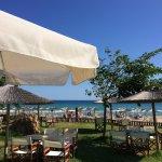 Blick vom Restaurant zum Beach