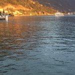 Restaurant Zee - Seeterrasse - Schiff in Abendsonne