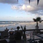 Aussicht vom Fischrestaurant am Strand