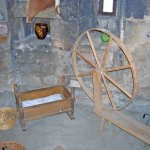 Some items in the spinning room, one of the rooms inside