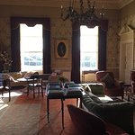 Gracious sitting room with open fire in evenings.  Early morning view from bedroom window.  We d