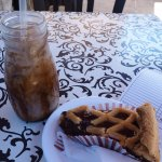 Iced coffee & dates and walnut cake
