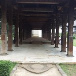 Audience Hall with it's carved wooden pillars and stone entry.